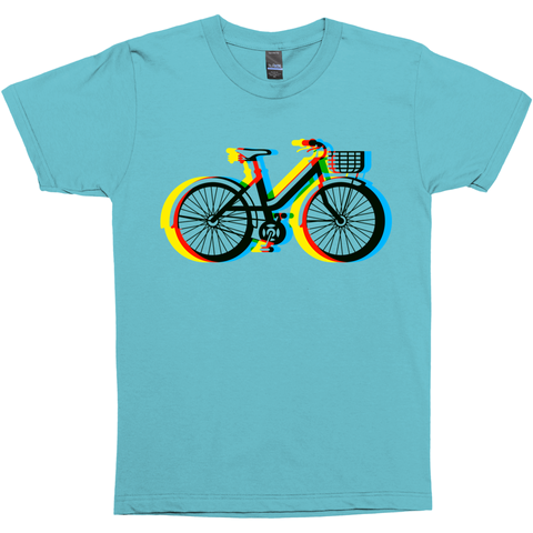 The Bike Side Retro 3D Bicycle T-Shirts.