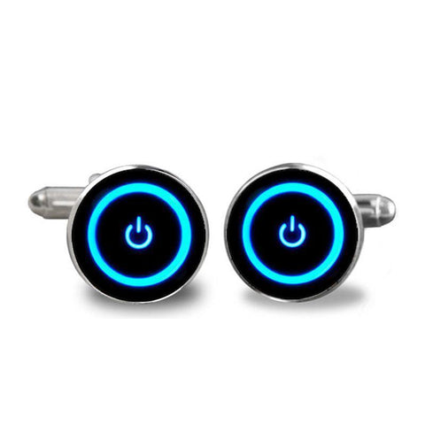 Cufflinks - Custom Power Icon Cufflinks