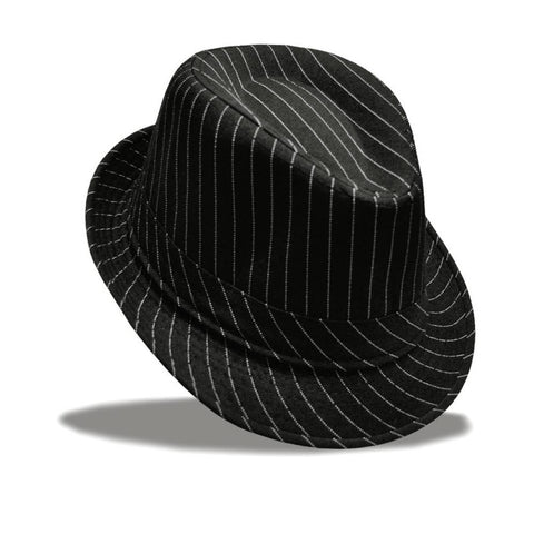 Hat - Unisex Striped Fedora