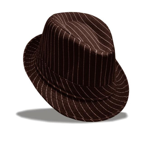 Unisex Striped Fedora
