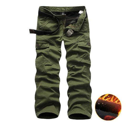 Thick/Winter Big Pockets Men's Baggy Cargo Pants