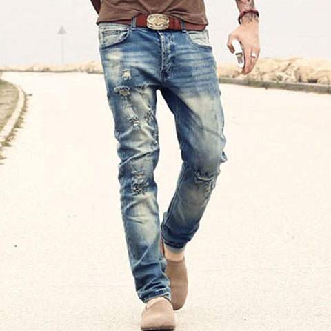 Men's Ripped/Strech Denim Jeans