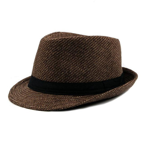 Mens Hat - Classic Mixed Wool Fedora