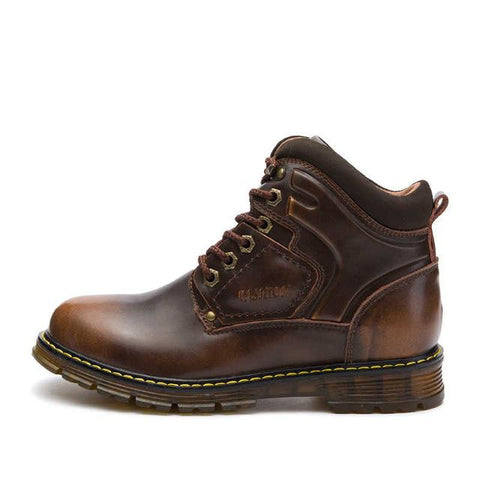 Mens Shoes - Lace-up Leather Shoes