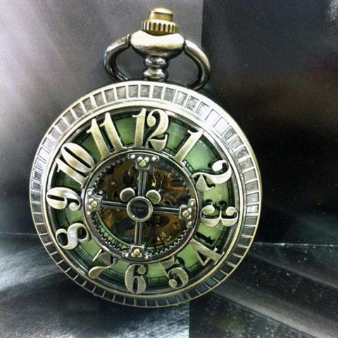 Pocket Watch - Big Numbers Hollow Cross Pocket Watch