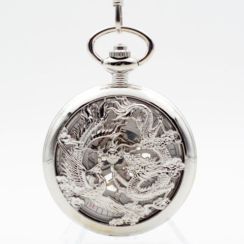 Pocket Watch - Dragon And Phoenix Pocket Watch With Gift Box