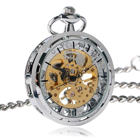 Pocket Watch - Luxury Hand-Winding Mechanical Pocket Watch