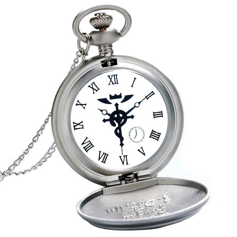 Silver Alchemist Quartz Pocket Watch Gift Box Set