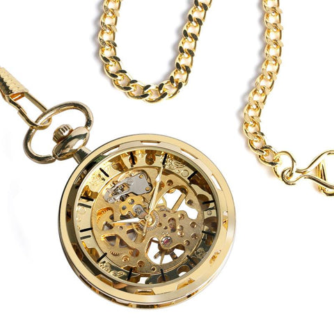 Pocketwatch - Mechanical Skeleton Hand-winding Pocket Watch