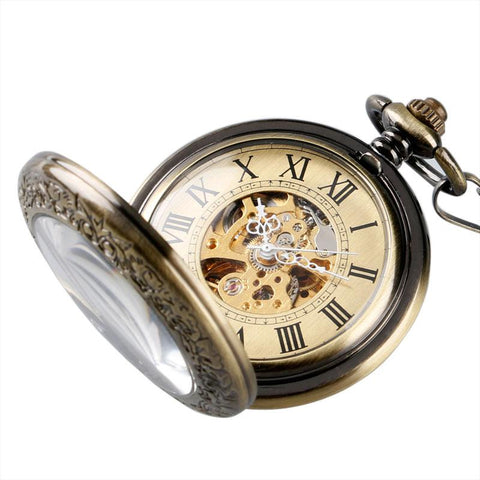 Poket Watch - Automatic Mechanical Bronze Pocket Watch