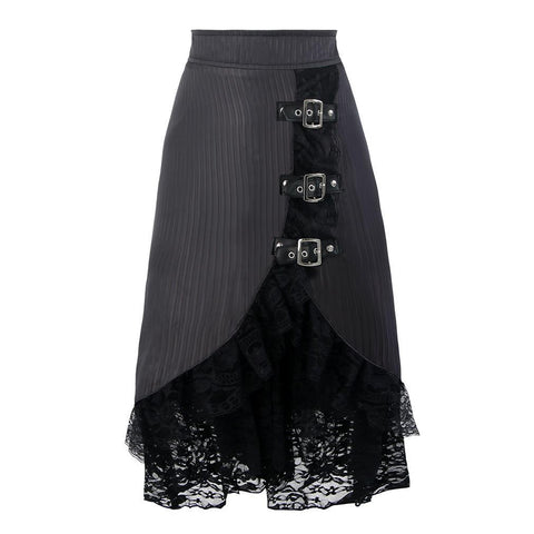 Kimring Vintage Lace Corset-Type High Waist Skirt