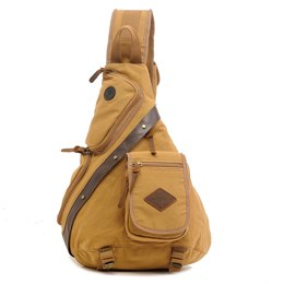 Men Canvas Sling Chest Day Back