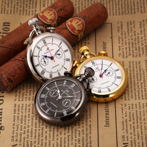 KS Retro Golden Case Stopwatch