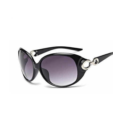 Sunglasses - Polarized Black Oval UV400 Polycarbonate Sunglasses