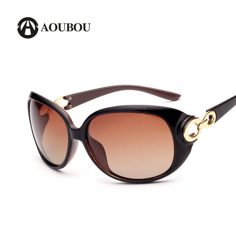 Polarized Black Oval UV400 Polycarbonate Sunglasses