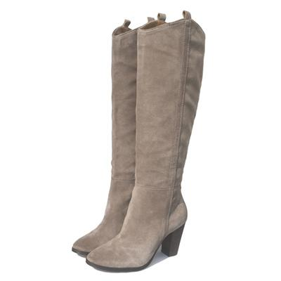 Women's Suede Knee High High Heel Knee High Cowboy  Boots