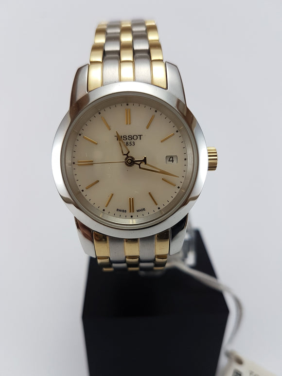 Tissot two tone watch with date