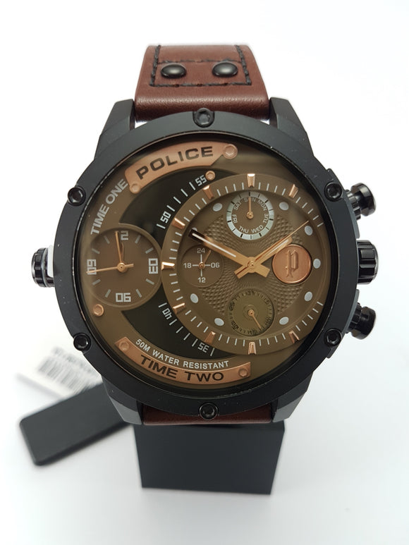 Police dual movement watch