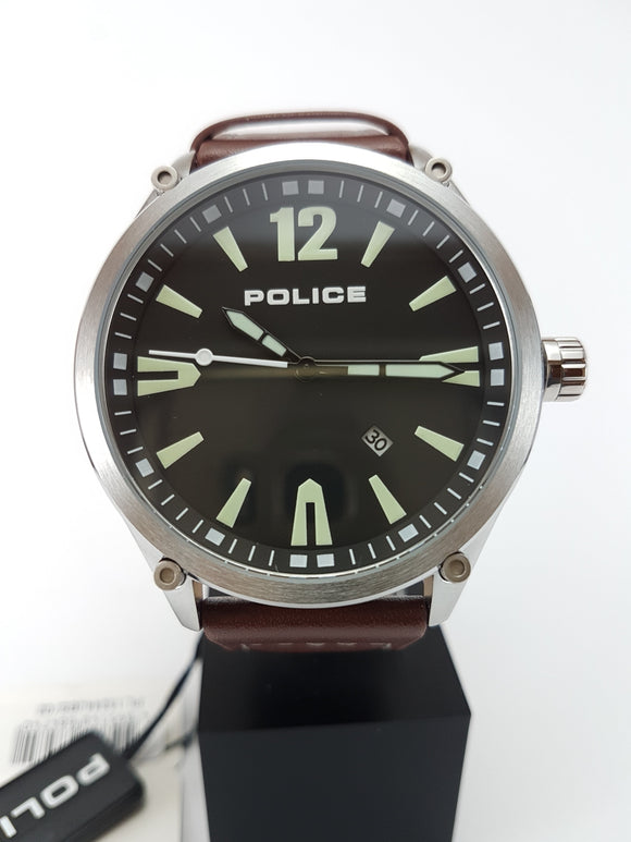 Police watch with date