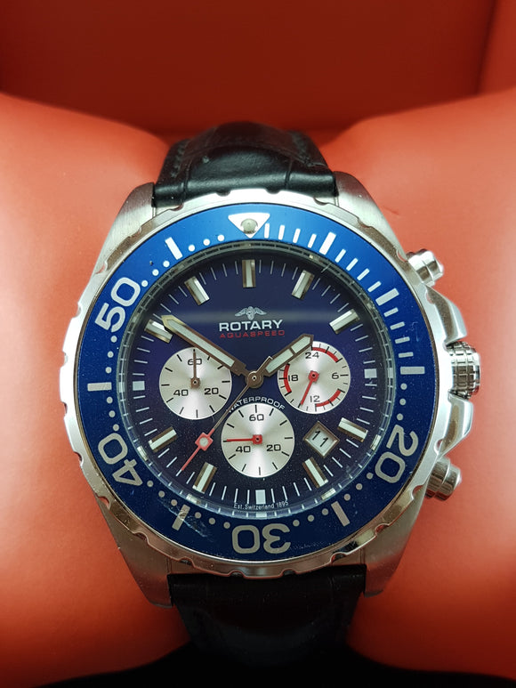 Rotary Aquaspeed Chronograph watch with date