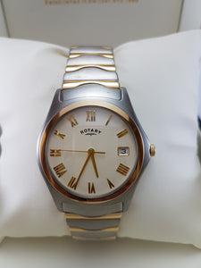 Rotary two tone watch with date