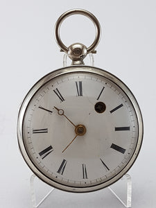 19th Century Key Wound Verge Fusee pocket watch
