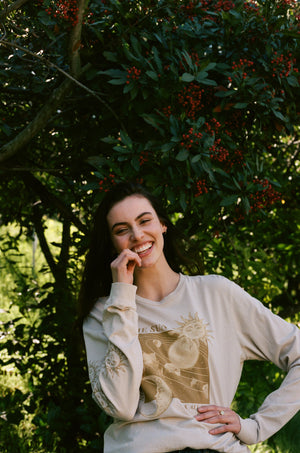 Sun and Stars Long Sleeve Tee Thumbnail - Desert Dreamer