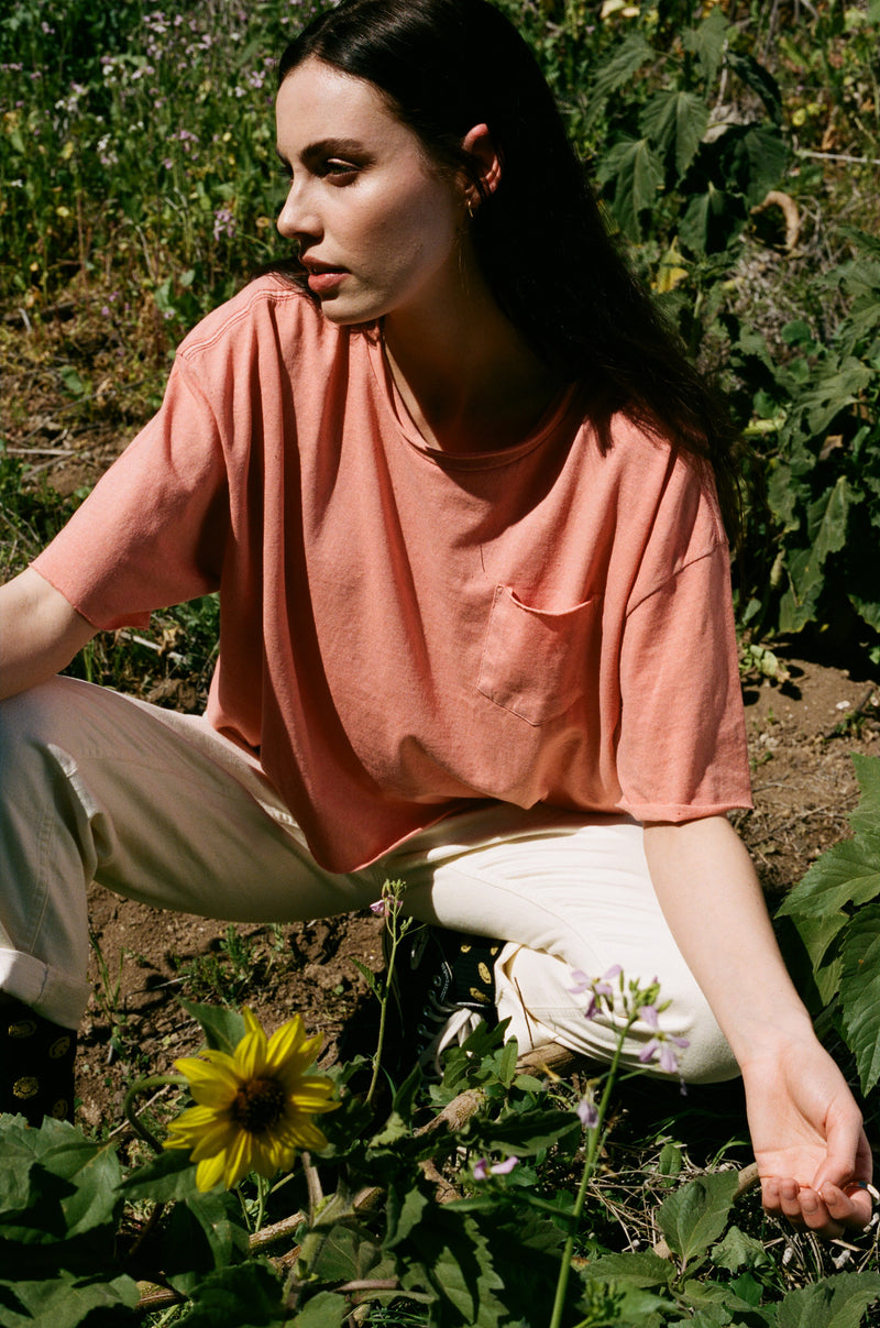 Desert Dreamer - Essentials Oversized Pocket Tee - Pink Rust