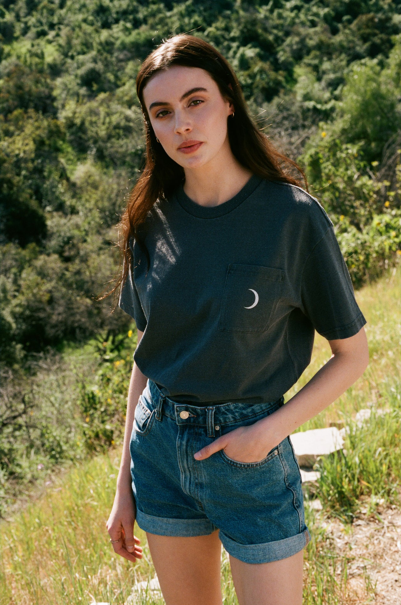 Moon Phases Vintage Fit Pocket Tee - Desert Dreamer