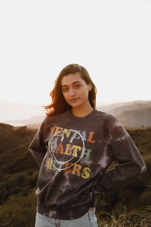 Smiley Mental Health Matters Recycled Crewneck Thumbnail - Desert Dreamer