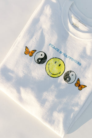 Smiley Peace and Happiness Dad Tee Thumbnail - Desert Dreamer