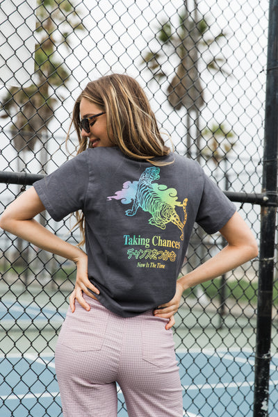 Taking Chances Crop Henley