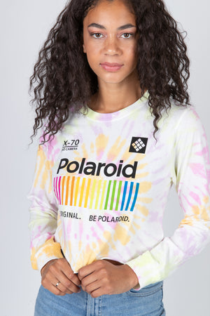 Polaroid Tie Dye Crop Long Sleeve Thumbnail - Desert Dreamer