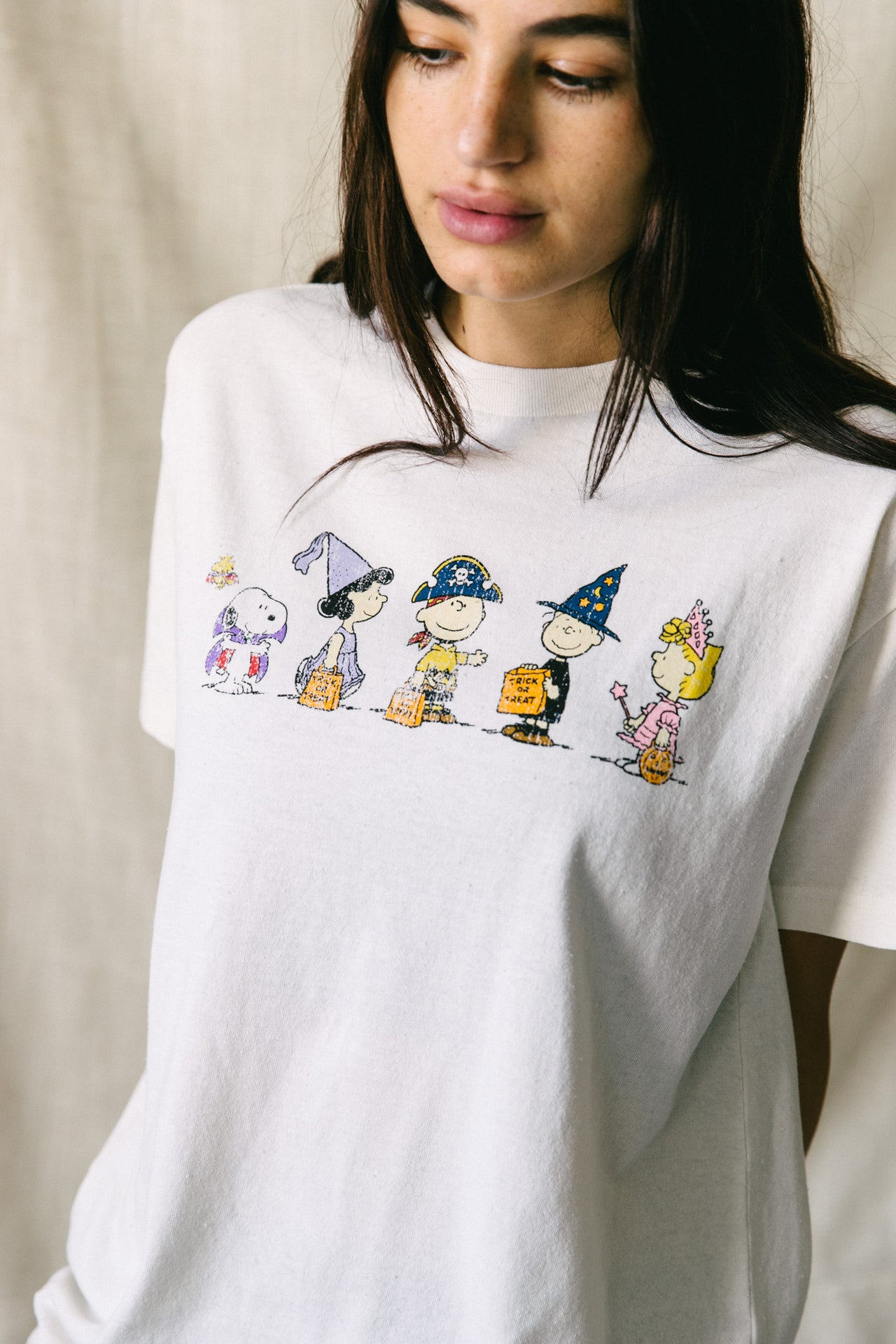 Peanuts Trick Or Treat Vintage Fit Tee - Desert Dreamer