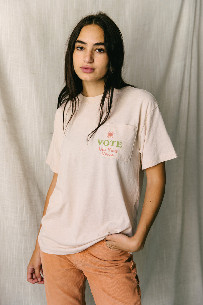 Desert Dreamer - USE YOUR VOICE  Vintage Pocket Tee