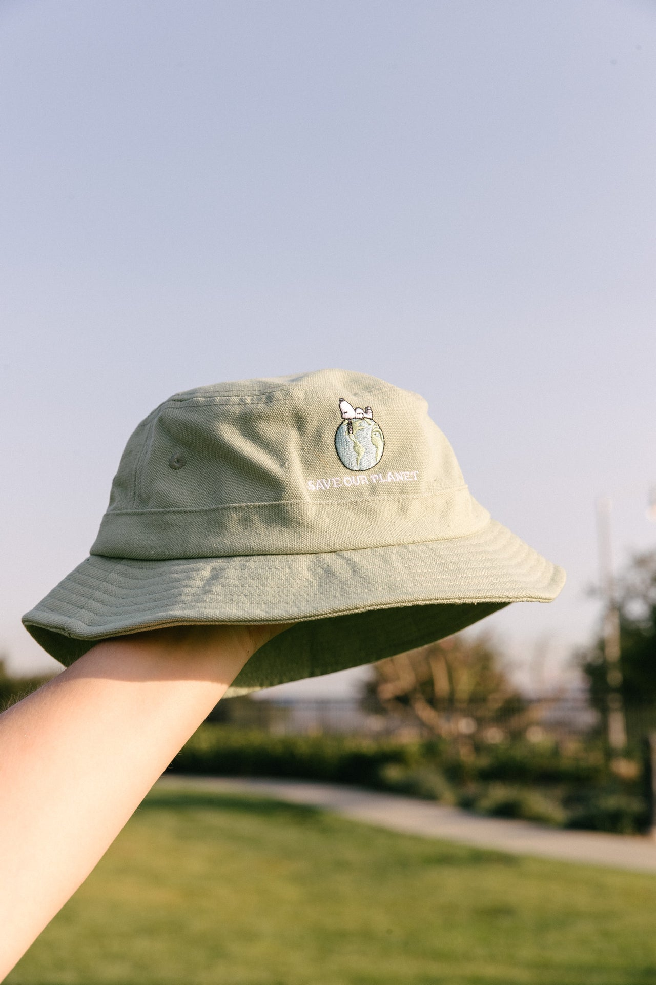 Snoopy Save Our Planet Bucket Hat - Desert Dreamer