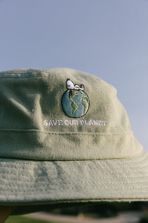 Snoopy Save Our Planet Bucket Hat Thumbnail - Desert Dreamer