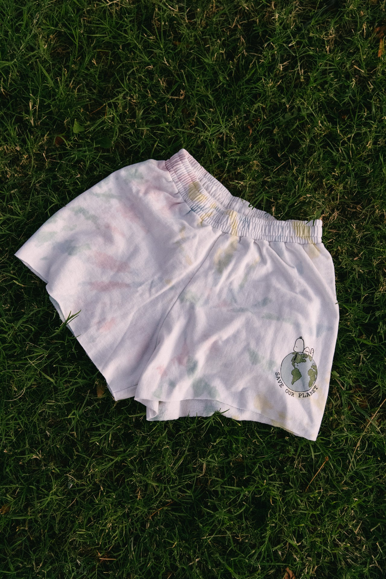 Snoopy Save Our Planet Recycled Shorts - Desert Dreamer