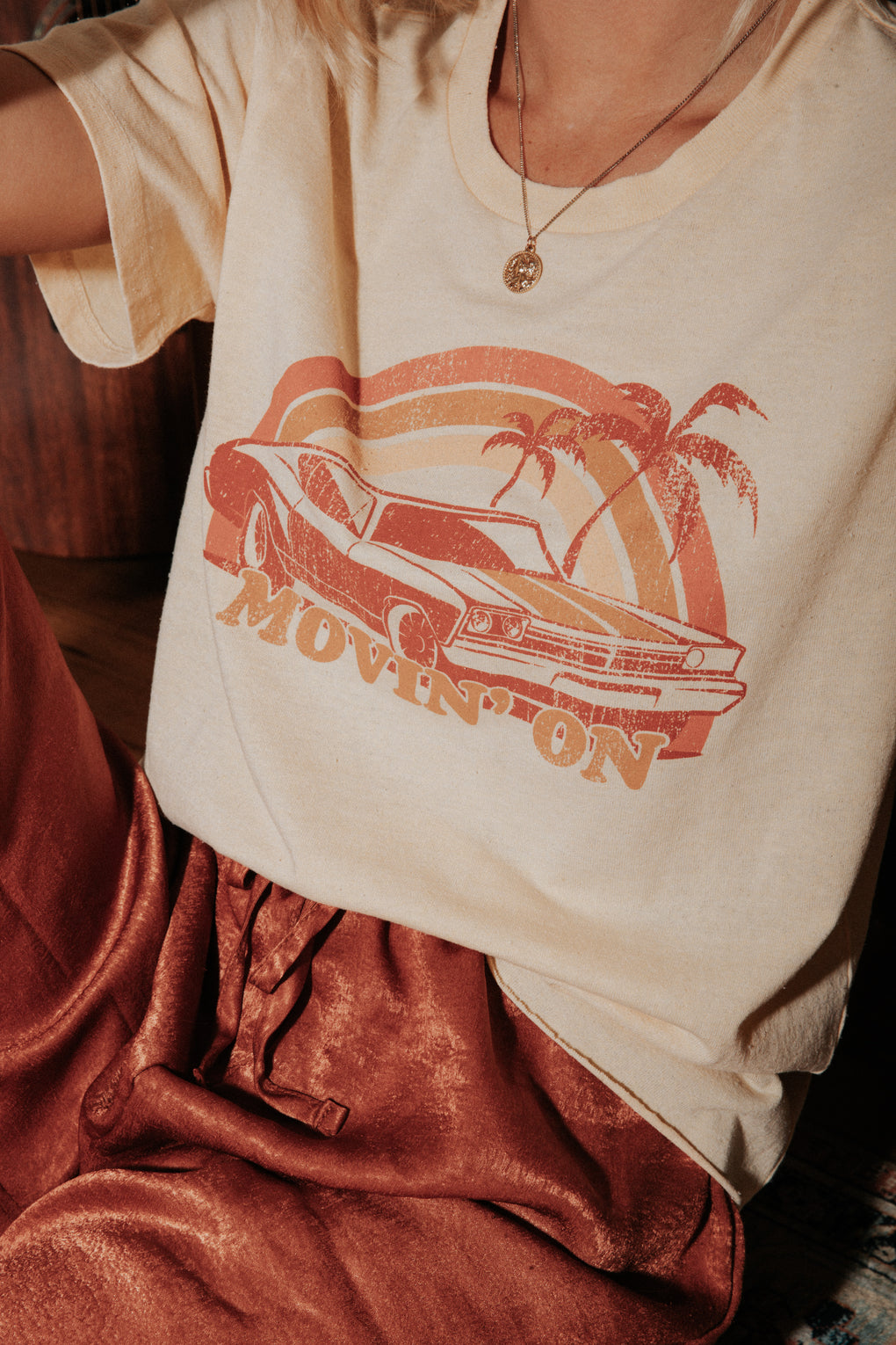 Movin' On Raw Edge Tee