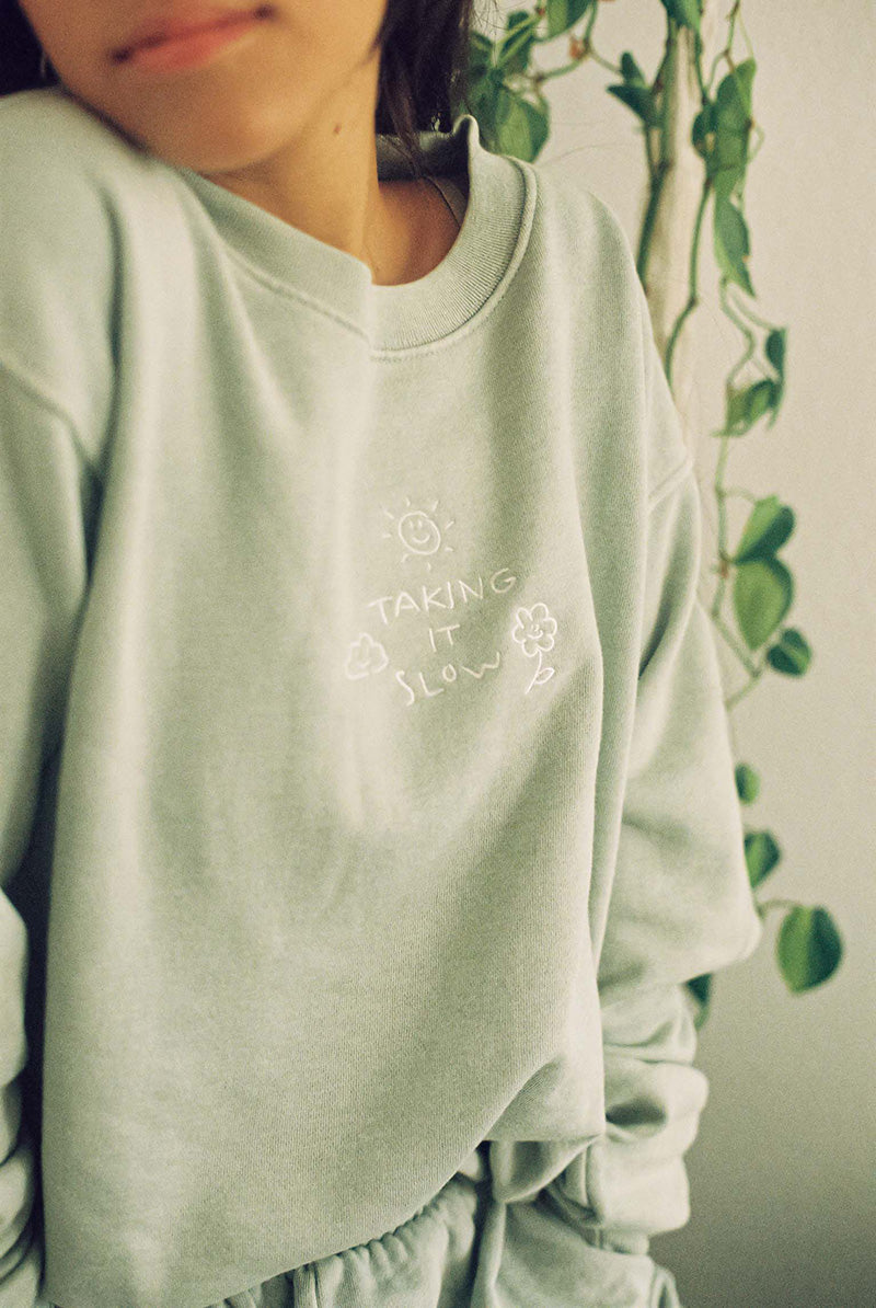 Taking it Slow Crewneck - Desert Dreamer