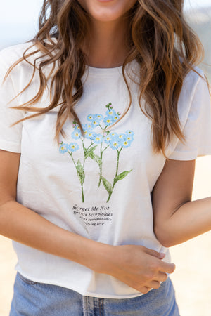 Forget Me Not Raw Edge Tee Thumbnail - Desert Dreamer