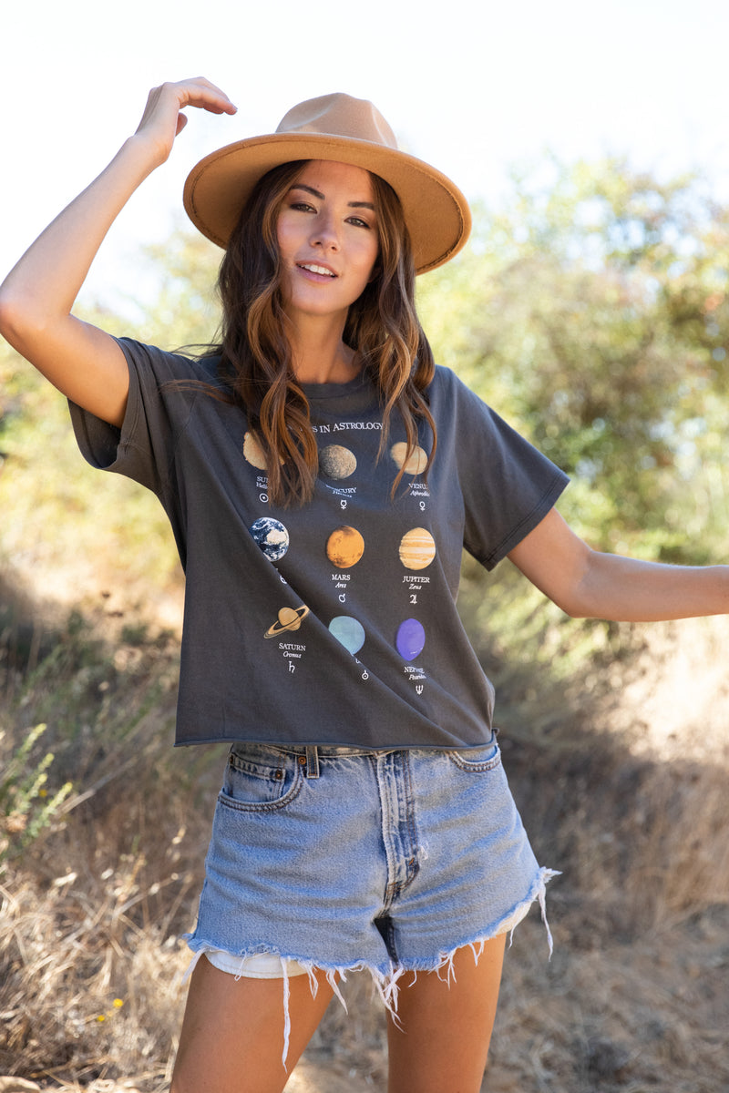 Desert Dreamer - Planet Diagram Raw Edge Tee
