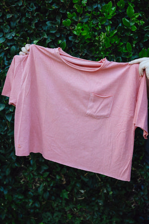 Essentials Oversized Pocket Tee - Pink Rust Thumbnail - Desert Dreamer