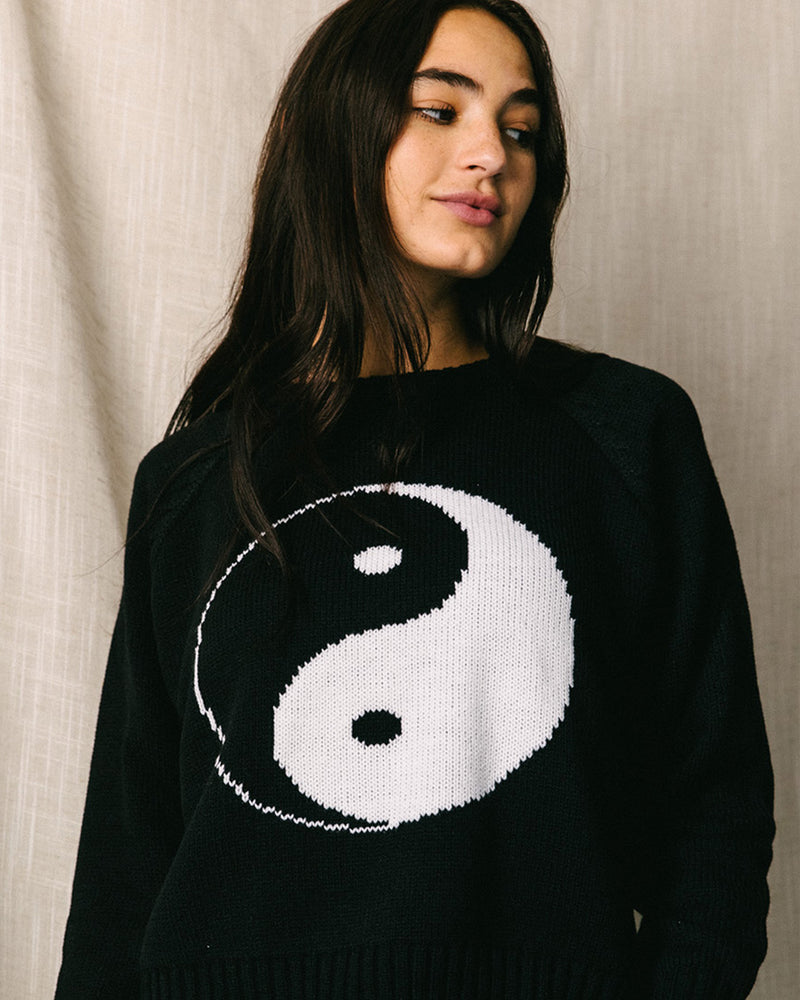 Desert Dreamer - Yin Yang Recycled Knit Sweater