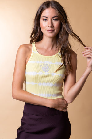 Live By The Sun Ribbed Tank Top Thumbnail - Desert Dreamer