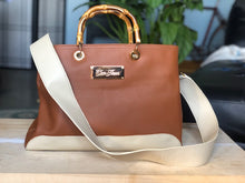 Tobacco and Cream Handbag