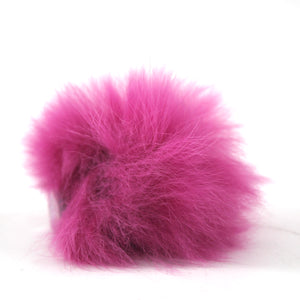 Rabbit Fur Shoe Accessory- Fuchsia