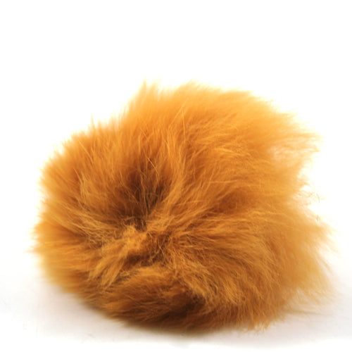 Rabbit Fur Shoe Accessory- Orange
