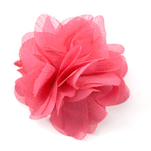 Fabric Flower Shoe Accessory-Red