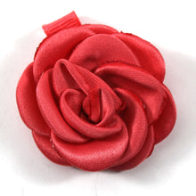 Satin Rose Shoe Accessory- Red